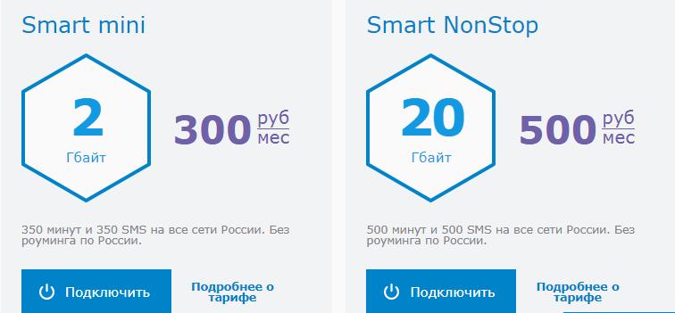 Фото тарифов на мобильную связь от компании, которые расположены на официальной странице МГТС